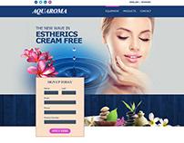 Aquaroma Website Design using Photoshop