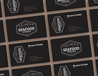 Free Seafood Business Card Design