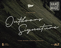 Outdoors Signature Vintage Typeface
