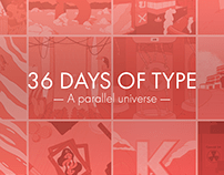 36 days of type - a parallel universe