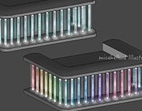 Designer Glasstile Bartable Design