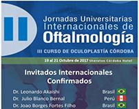(x) Jornadas Universitarias Internacionales de Oftalmol