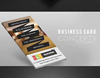 Sukraa Business card concepts