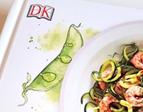Cook Healthy & Quick // Book Cover Illustrations
