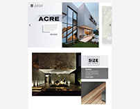 Acre Homepage Redesign