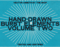 Hand-drawn burst elements volume two
