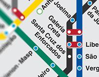 Mapa Metroviário Transterreno de São Paulo