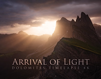 Arrival of Light - Dolomites Timelapse 4K