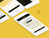 Taxi App UI kit a taxi app mobile UI kit
