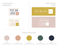 Put On Love Co. Branding & Concepts