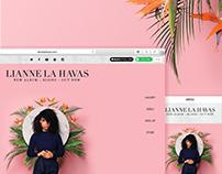 Lianne La Havas - Website Design