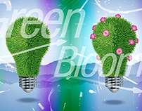 Green Blooms (series) - Poster Design / Illustration