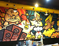 cartoon Wall painting