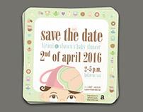 Hiromi & Shawn Kimura's Baby Shower Invite