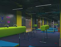 Gymnastic hall for kids