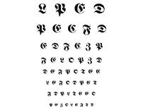 Fraktur Eye Chart
