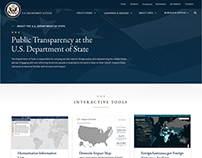 U.S. Department of State Public Transparency Page
