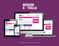 UX - Mission Australia webpage redesign