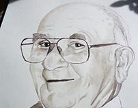 Retrato con vino Abuelo Pablo