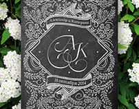 Wedding polygraphy black and white