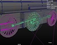 Playblast - rig,constrain, lokomotywa
