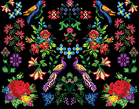 Pixel Folk Print
