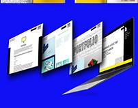 corporate identity development, brand book and website
