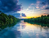 Blue and Golden Hours @ Eglisau Rhein