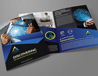 IT Company Brochure Bi-Fold Template