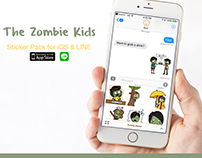 The Zombie Kids Stickers