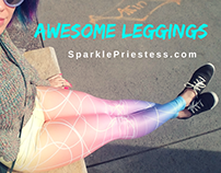 SparklePriestess leggings branding, leggings design