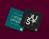 JUST Studio Business Card design