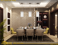 modern men councel with dining room