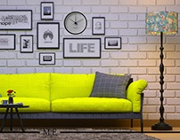 Yellow Couch - Living room