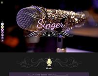 Singer- Joomla music template