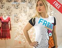 T-Shirt - Free PSD Mockup
