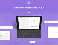 Dreamer Wireframe UI Kit for Sketch