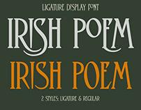 Irish Poem - Ligature Display Font