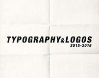 TYPOGRAPHY & LOGOS 2015-2016
