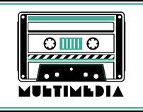 Multimedia Logo Stencil