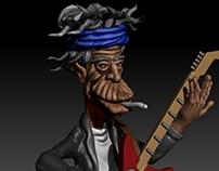 Keith Richards 3d sculture