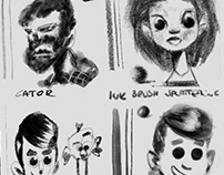 DAUB Bad18 brushset, reference face sketches