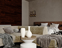 Modern bedroom visualization and design