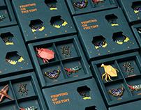 三虫印刷社_昆蟲徽章 Printing On The Tiny