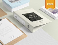Free Box File Mockup Scene