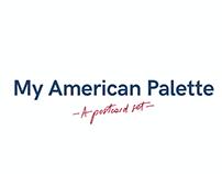 My American Palette - A postcard set