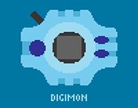 Digimon Adventure in pixel art