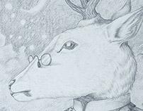 Retratos de animales I: ciervo ·
