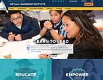youth leadership web design mockup