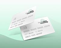 Free PSD plastic credit cards mockup